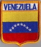 Venezuela Embroidered Flag Patch, style 06.
